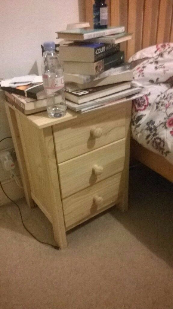 Argos Solid Pine 3 Drawer Bedside Chests