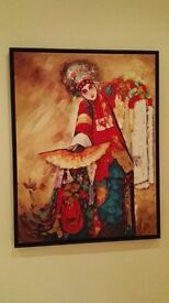 Gorgeous Chinese Opera Oil Canvas Painting