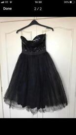 Gorgeous black sequin netted party dress size 12