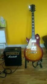 Rockburn LP2 Sunburst left hand electric guitar