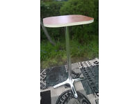 Ex-display Cherry and Chrome Bistro Table.