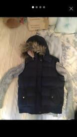 Fat face gilet size 14 & jumper & new hat