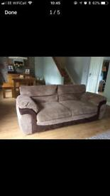 2 & 3 seater sofas with foot stool lovely condition as had little use!