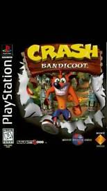 Crash bandicoot 1 and 2 for PlayStation 1