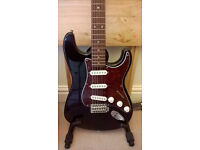 Squier Affinity Stratocaster electric guitar, Marshall Amp and accessories