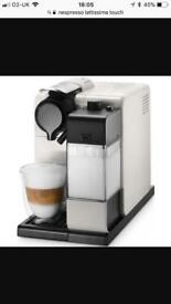 Nespresso lattissima touch coffee machine + coffee pods
