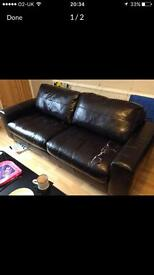 Free leather sofas - leather torn in areas