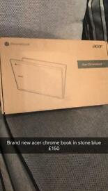 Acer chromebook 11 brand new boxed in stone blue