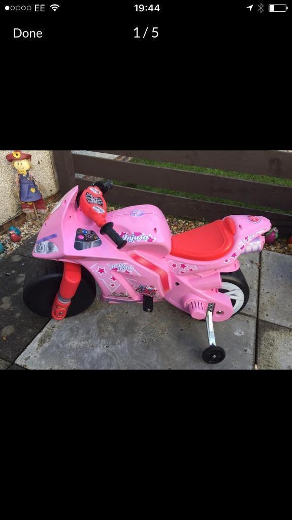 Girls motorbike 12v hello kitty