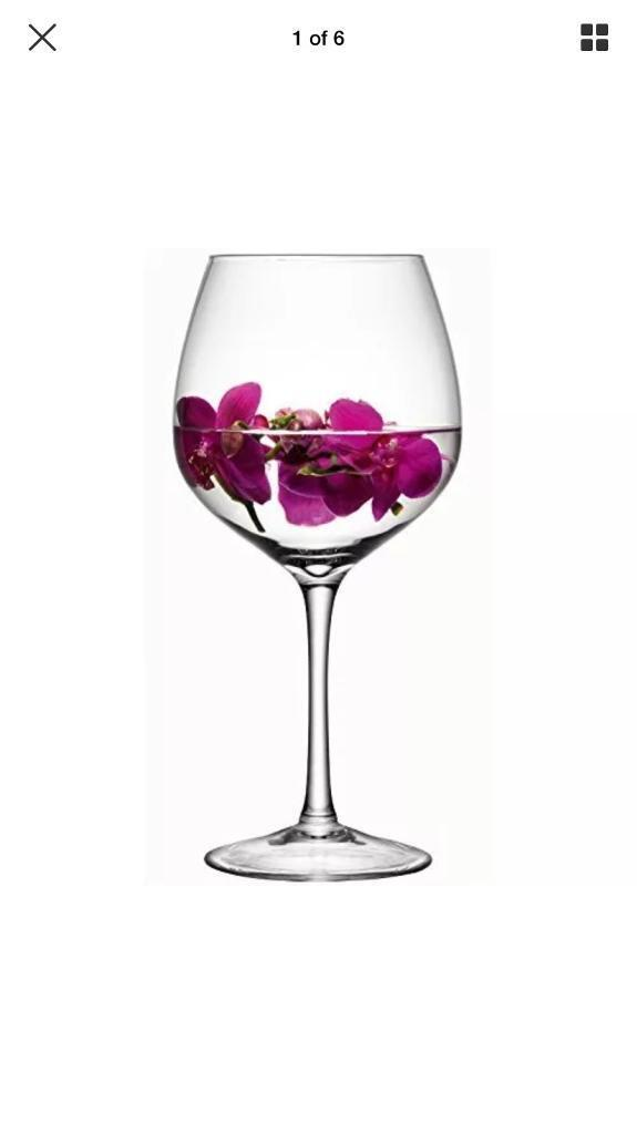 Large Wine Glass Vase Lsa Brand New In Box In Leigh