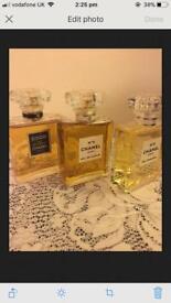 Job lot of Chanel perfumes (3 Chanel Perfumes Coco Chanel, No5 Chanel)