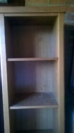 Ikea solid wood tall bookcase