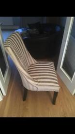 Upholstered dining chairs x 2