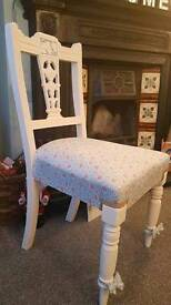Shabby chic dining chairs x2