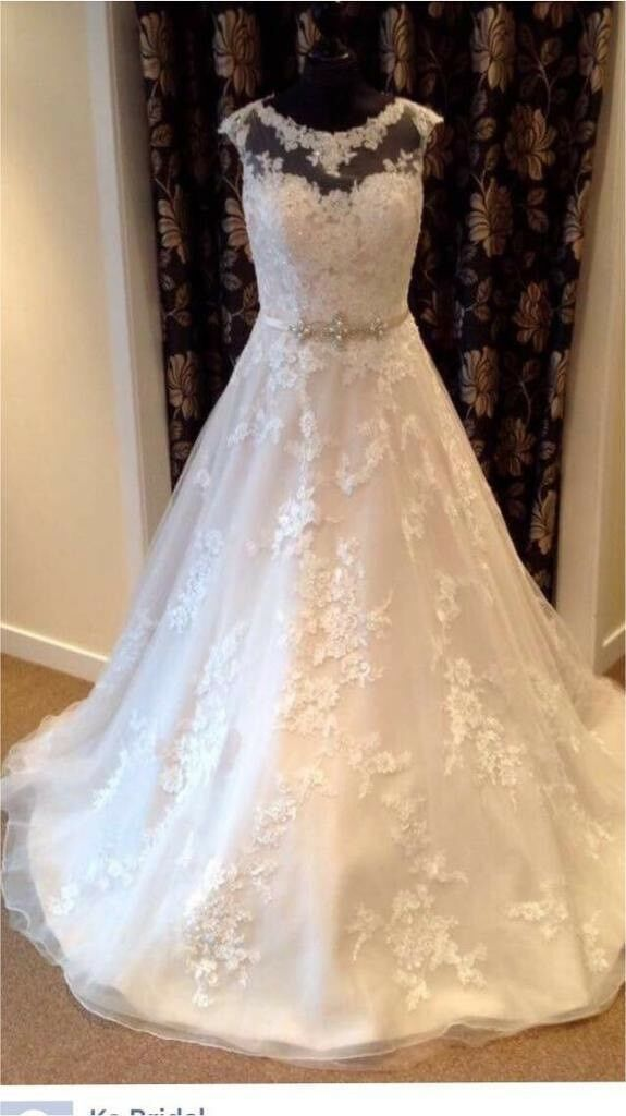 Ronald Joyce Robyn Wedding Dress Size 14not Cleanedchampagne Colourin Bramley West Yorkshire I