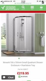 Brand new shower enclosure & tray RRP £220