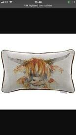 Voyage Maison Highland Coo Cushion Brand New