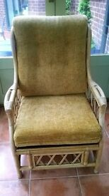 Conservatory suite. Two seater and armchair. Very good condition.