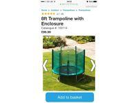 Brand new unused SMYTHS 8ft Trampoline