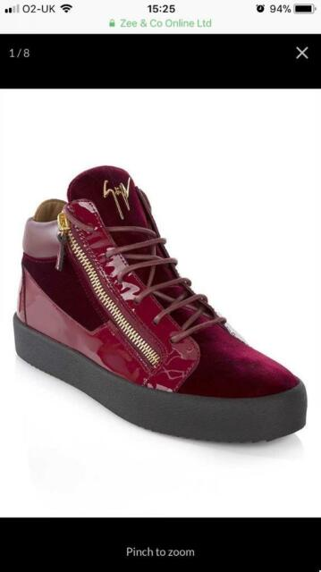 305432dcd0ff4 New Giuseppe Zanotti Exclusive Burgundy Red Mid-Trainers | in ...