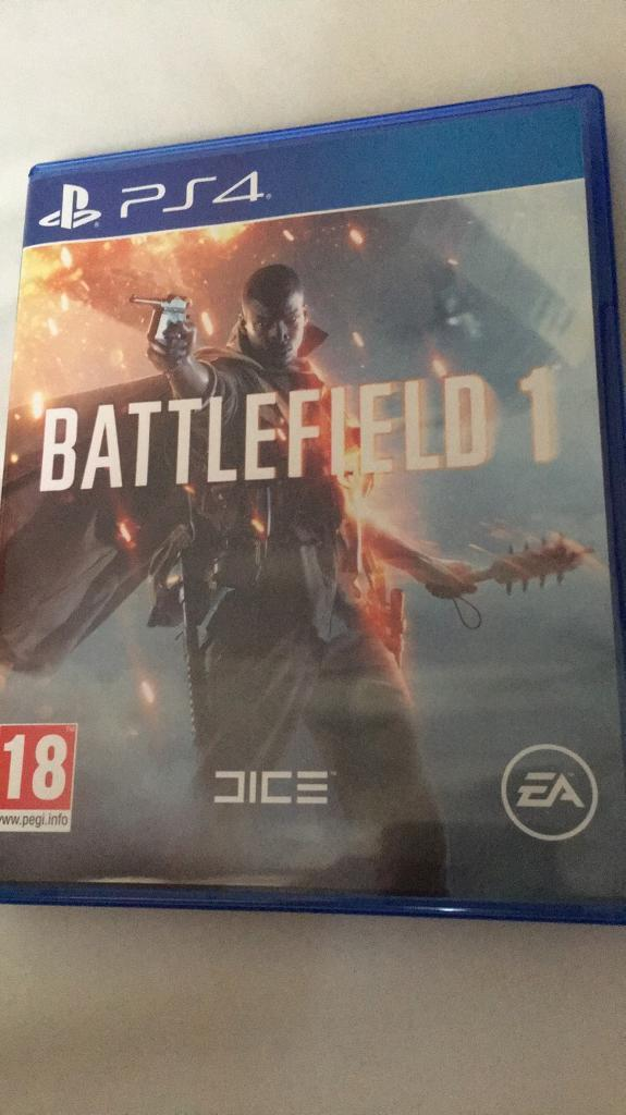 Battlefield 1 ps4 like new condition