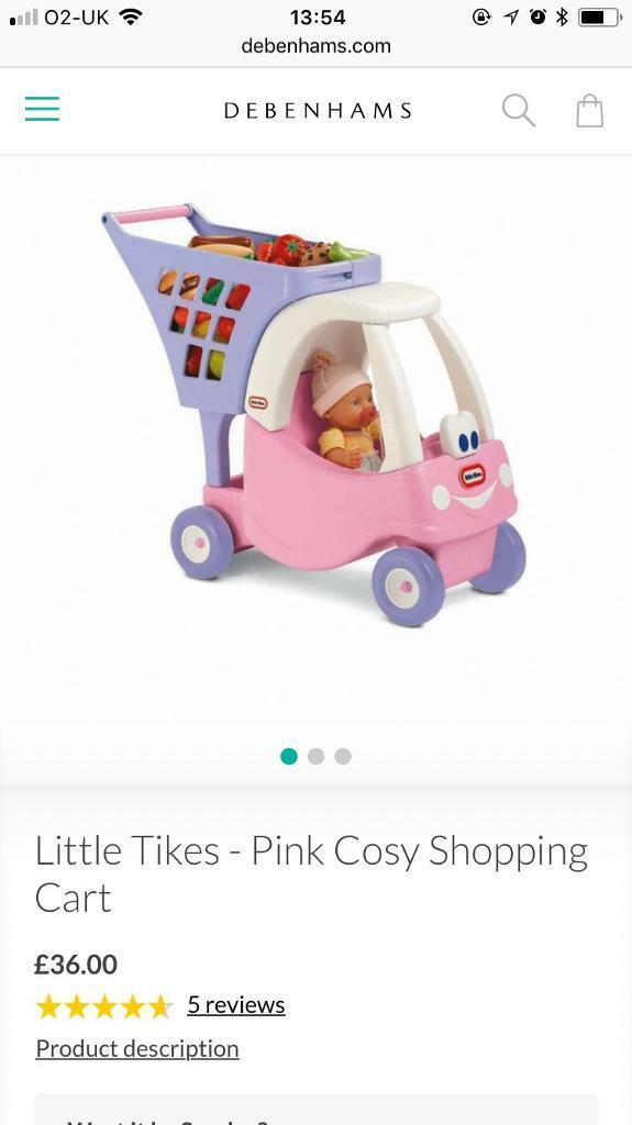 Little Tikes pink cosy shopping cart
