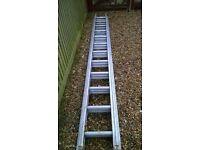 3 extension aluminium ladder