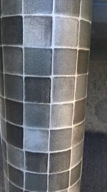 New grey and blach square vinyl 4 ft 7ins x 4 ft 1 ins.