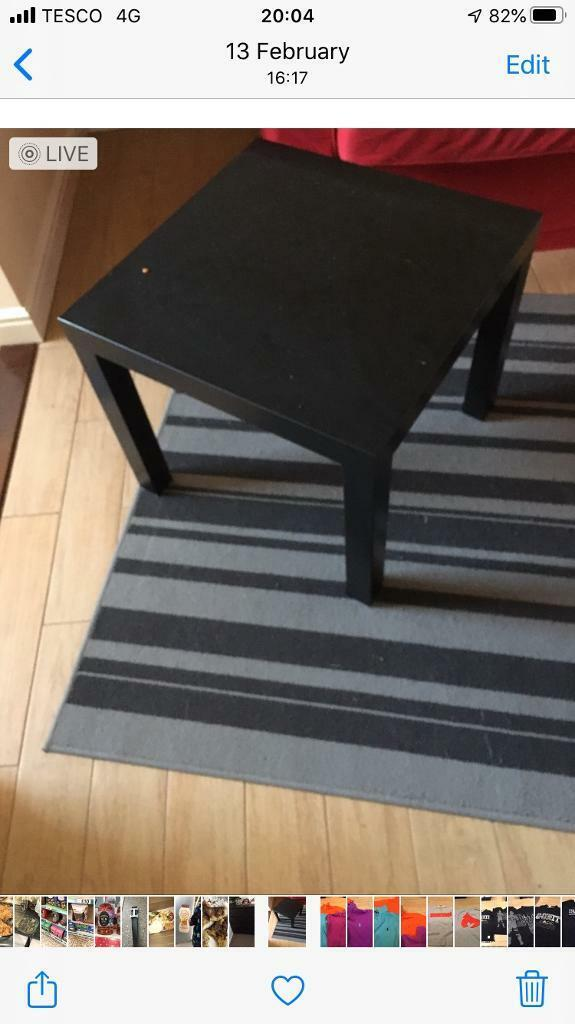 Square Black Coffee Table In Ringwood Hampshire Gumtree