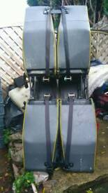 Minibus seats, singles. Doubles and triples