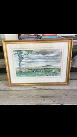 Original Framed Watercolour Painting Of Thurso Signed WA Holmes