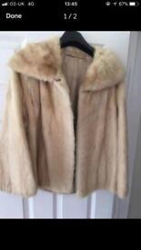 Real mink jacket