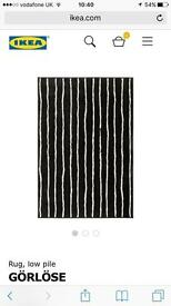 IKEA black and white large rug