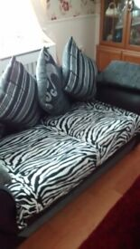 Lovely black and grey sofa