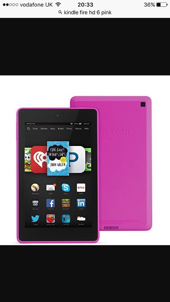 Kindle fire HD6 pink