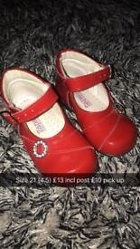 Red patent shoes size 4.5