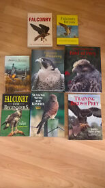 Falconry books by philip glasier,jemima parry jones,nick fox