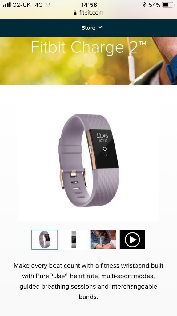 Fitbit charge 2 Rose Gold Special Edition