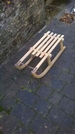 Vintage Sledge from the 60's in Beech Excellent condition Never used