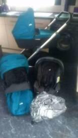 Joie chrome full travel system