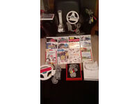 wii console x2 red and white plus 13 games