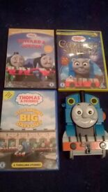 Thomas the Tank 3 Dvds, game, duvet set etc