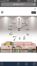 DIY clock metallic