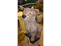 Staff Dog Garden Ornament