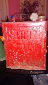 vintage shell mex petrol can with original cap