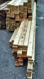 75mmx75mmx1800mm treated posts brand new delivery available