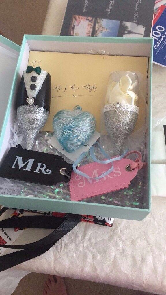 Wedding glasses handpainted