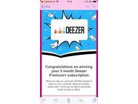 3 month Deezer Premium