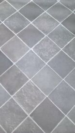 New black tile look vinyl £4