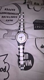 ladies irony swatch watch £5